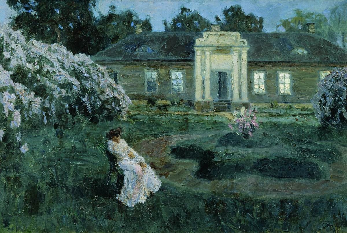 Image result for giclee painting: zhukovsky's white night, 1903, 61x41in.