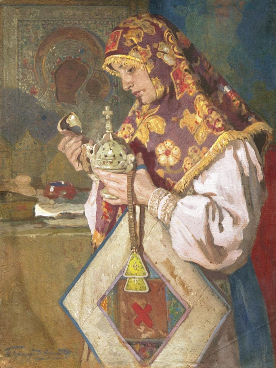 Как сшить подручник выкройка старообрядческий